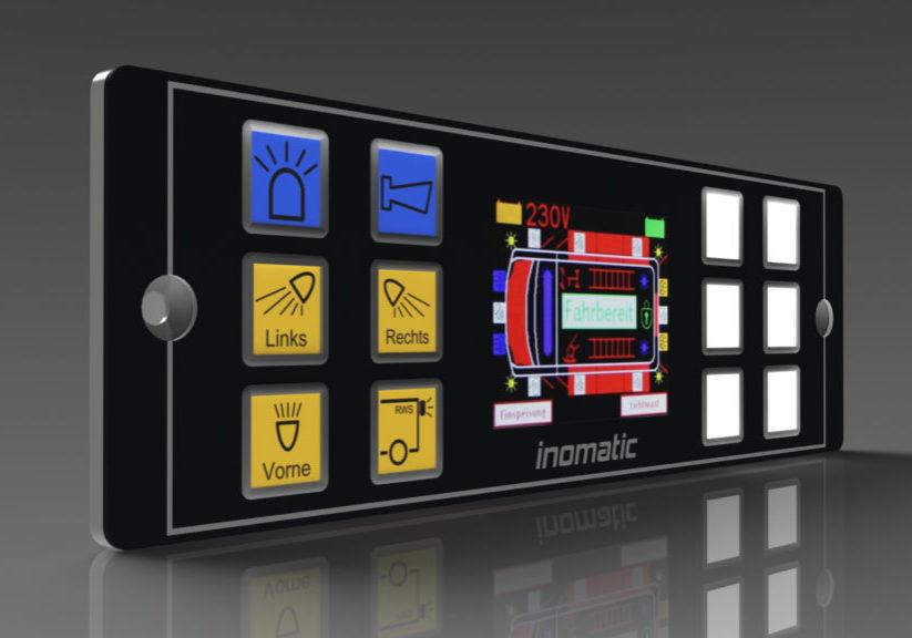Control panels with haptic embossing, BT2012 keypad inomatic, cia447, j1939, haptische tasten